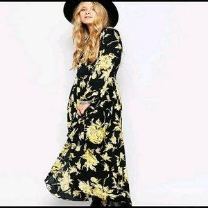 NWOT Free People Floral Maxi Dress - First Kiss